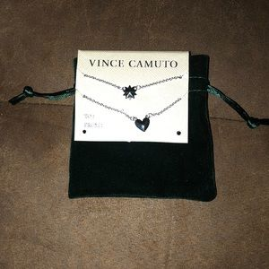 Vince Camuto necklace set with bag